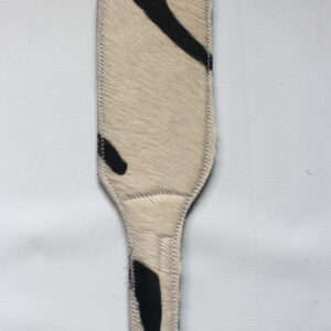 Zebra print and black leather paddle