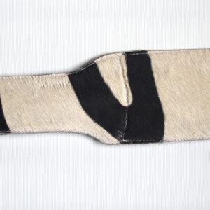 Snakeprint leather and zebra print paddle